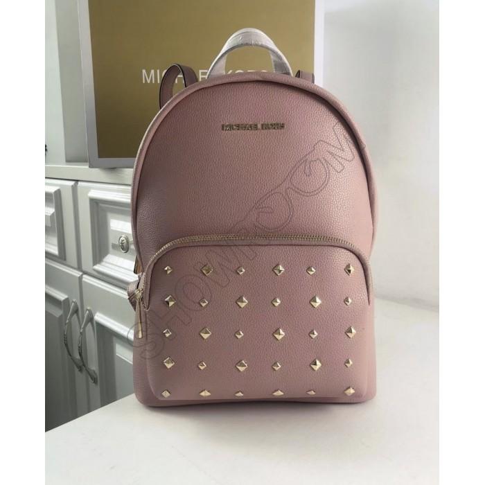 Женский кожаный брендовый рюкзак Michael Kors Erin Pink Lux