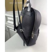 Женский кожаный брендовый рюкзак Michael Kors Erin Grey Lux