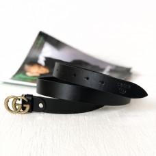 Женский модный кожаный ремень GG (5001) gold