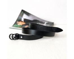 Женский модный кожаный ремень GG (5001) black