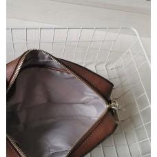 Женская кожаная сумка Mk Jet Set brown Lux
