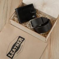 Подарочный набор для мужчин Leather Collection (портмоне и ремень)