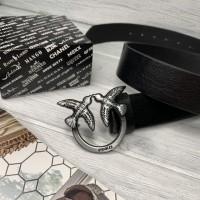 Женский модный кожаный ремень Pinko grey