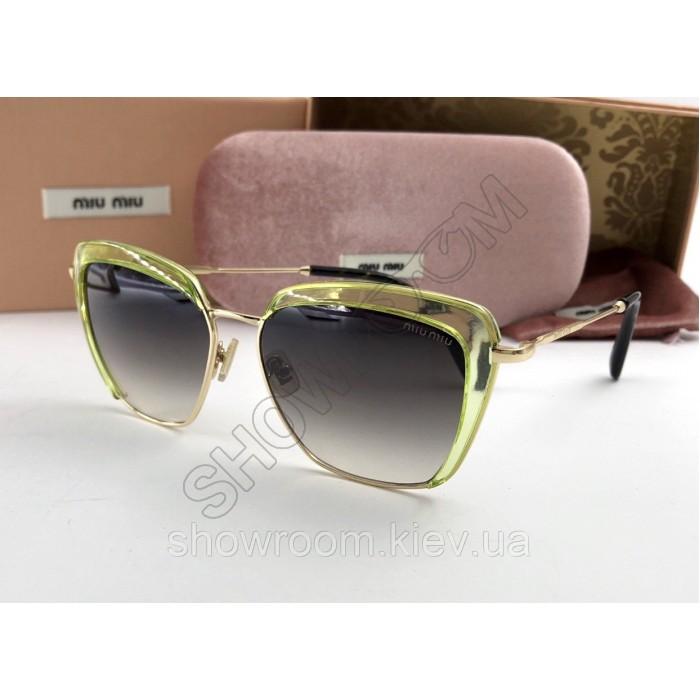Солнцезащитные очки Miu Miu (smu 52) green