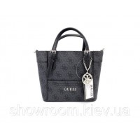 Женская брендовая сумка Guess (814) темно серая