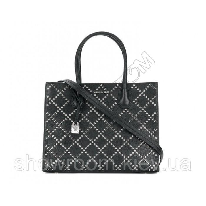 Женская сумка Michael Kors Mercer Grommeted big black