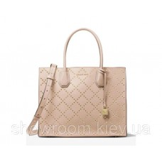 Женская сумка Michael Kors Mercer Grommeted small rose