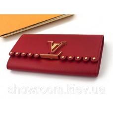 Женский кожаный кошелек Louis Vuitton (64102) red