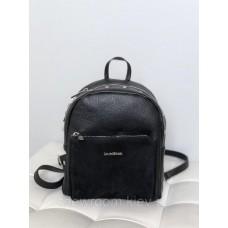 Рюкзак жіночий Laura Biaggi (11-149) шкіряний чорний