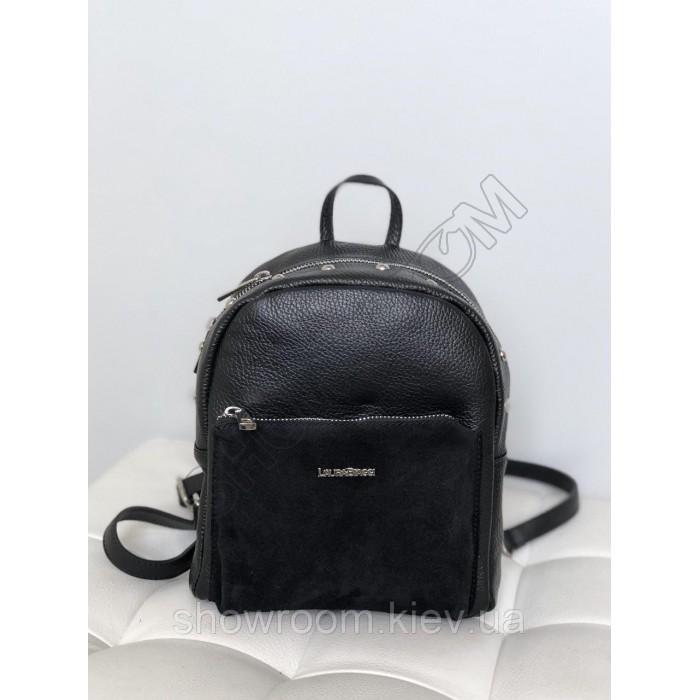 Рюкзак женский Laura Biaggi (11-149) кожаный черный