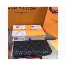 Мужской кошелек Louis Vuitton (60017) dark grey