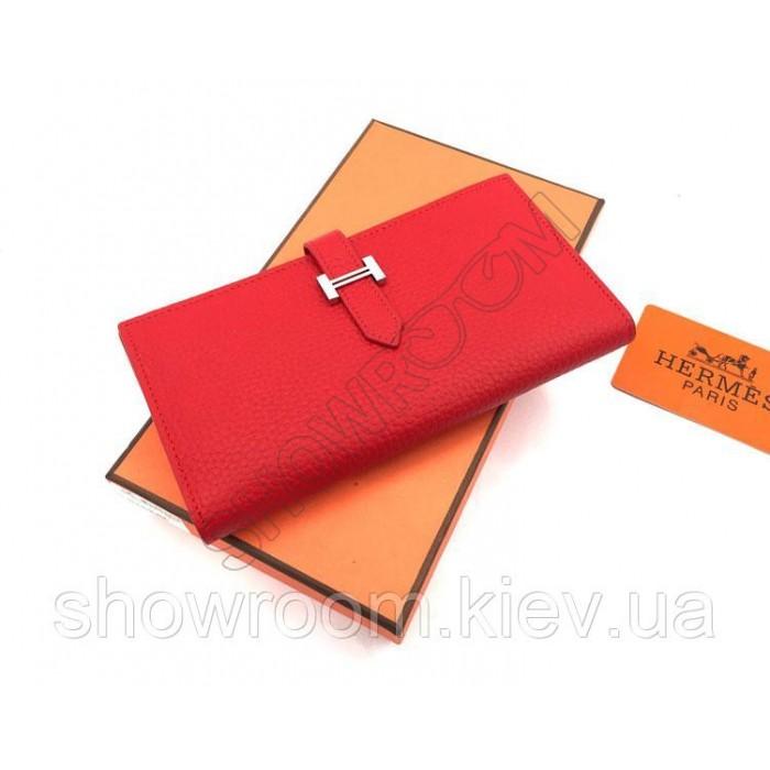 Женский красный кожаный кошелек Hermes (H-5123)
