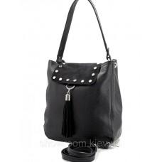 Сумка шоппер жіноча Laura Biaggi (29-151) шкіряна чорна