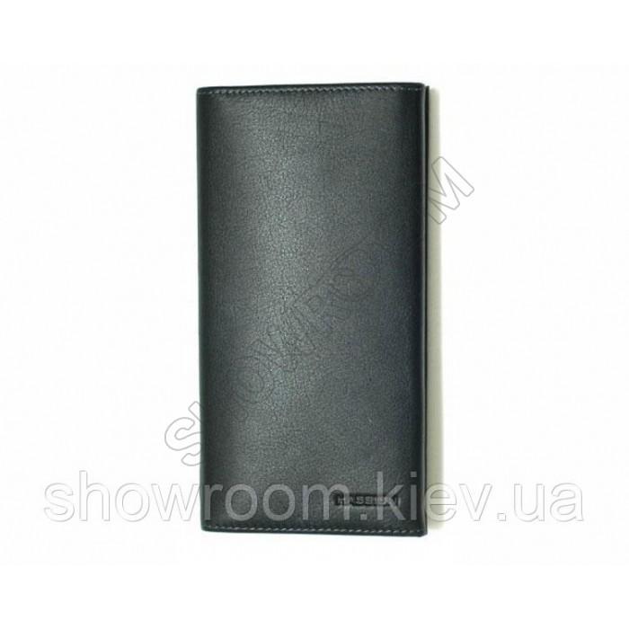 Бумажник мужской Hassion (58) кожаный черный