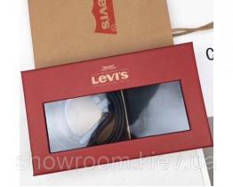 Чоловічий ремінь + портмоне Levis (509), подарунковий набір