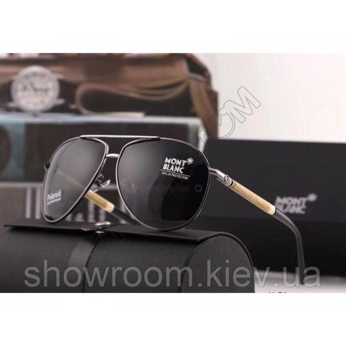 Мужские солнцезащитные очки авиаторы Montblanc (2715)