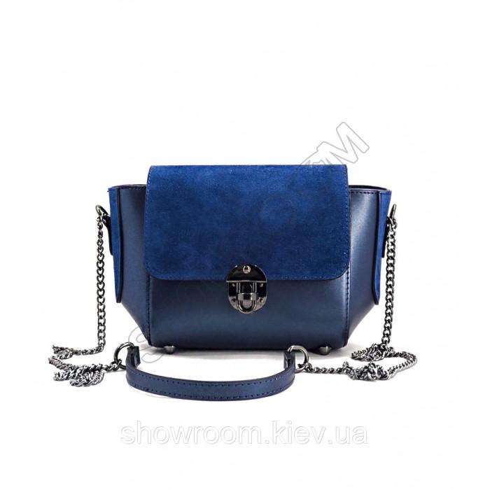 Сумка женская Laura Biaggi (136960) кожаная синяя