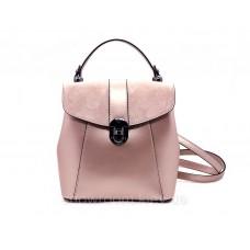 Женская кожаная сумка-рюкзак Laura Biaggi (141330) розовая