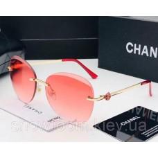 Женские безоправные солнцезащитные очки (1815) розовые