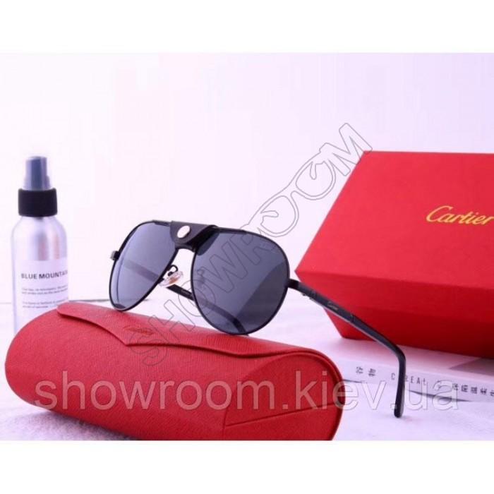 Мужские солнцезащитные очки Cartier (19979) black