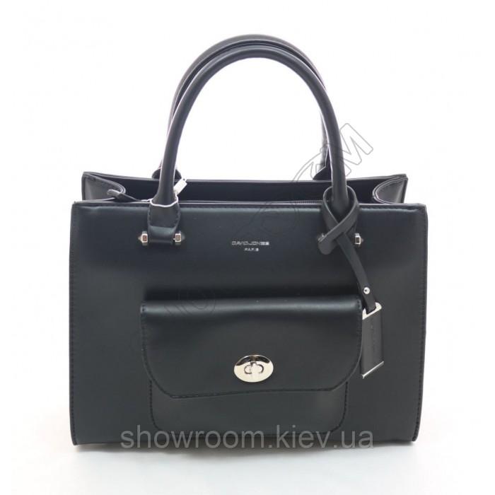 Женская черная сумка David Jones (038)
