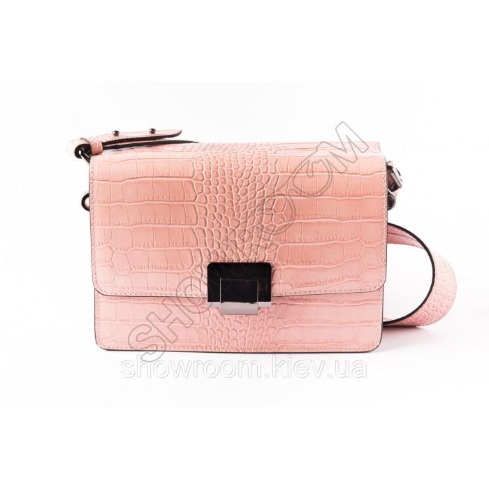 Сумка женская Laura Biaggi (2960) кожаная розовая