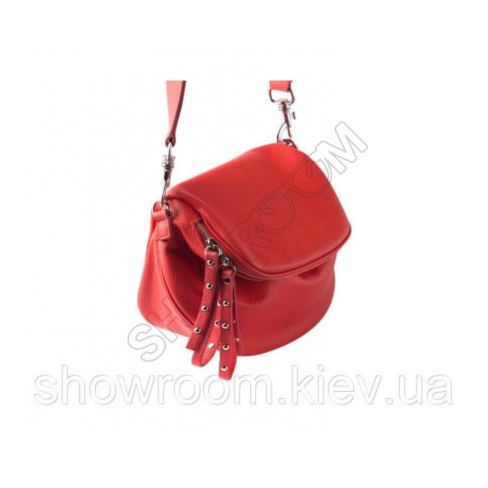 Сумка женская стильная Vera Pelle (2995) кожаная красная