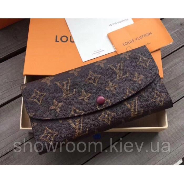 Женский кожаный кошелек Louis Vuitton (60136) red
