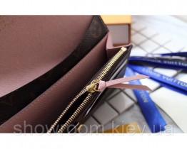 Жіночий шкіряний гаманець Louis Vuitton (60136) powder