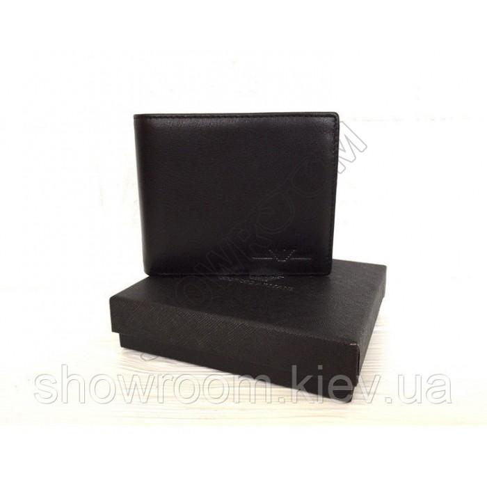 Мужское кожаное портмоне Giorgio Armani (10А-12) black