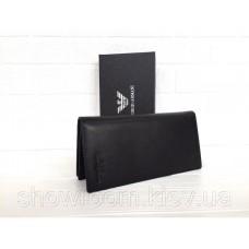 Чоловічий шкіряний гаманець Giorgio Armani (15A) black