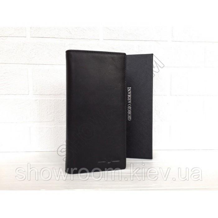 Мужской  кожаный бумажник Giorgio Armani (15A) black