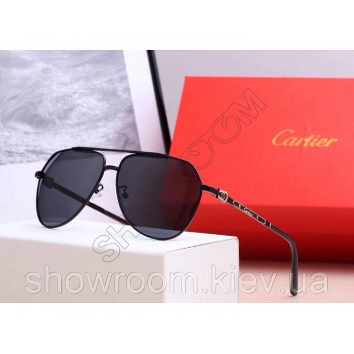 Мужские солнцезащитные очки с поляризацией Cartier (0121) black