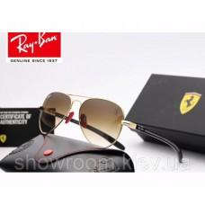 Жіночі сонцезахисні окуляри RAY BAN 8307 (001/51 brown) Lux