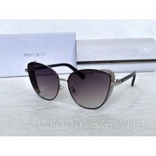 """Жіночі сонцезахисні окуляри """"кішечки """"(89) grey"""
