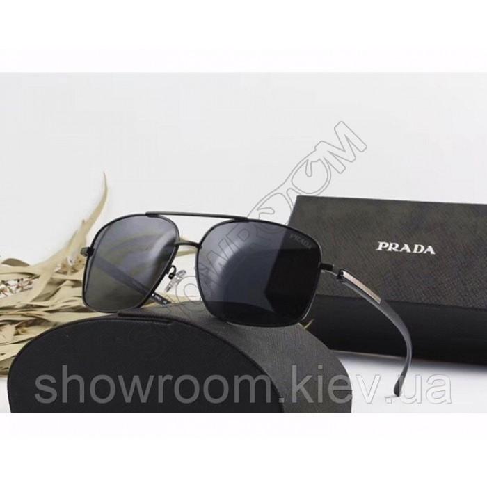 Чоловічі сонцезахисні окуляри з поляризацією Prada (98001) black