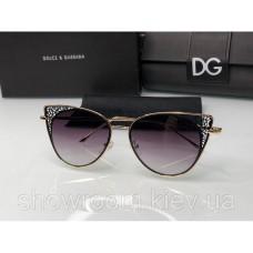 Брендовые женские солнцезащитные очки D&G (8800) black