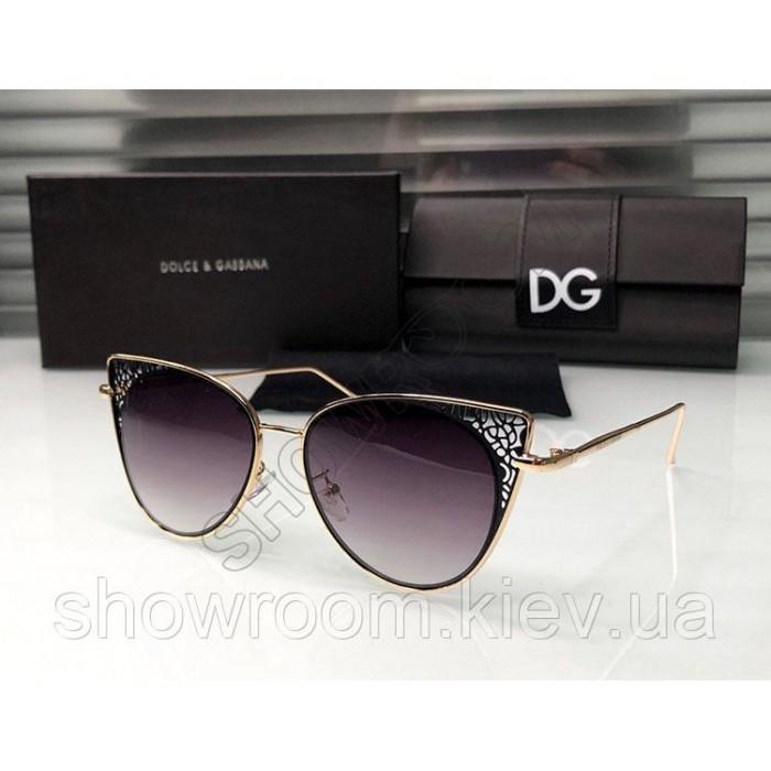 Брендові жіночі сонцезахисні окуляри D&G (8800) black