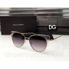 Брендові жіночі сонцезахисні окуляри D & G (8800) beige