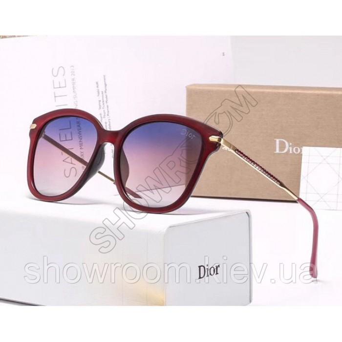 Женские брендовые солнечные очки с поляризацией (29912) vinous