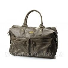Мужская дорожная стильная сумка David Jones (355) цвета тауп