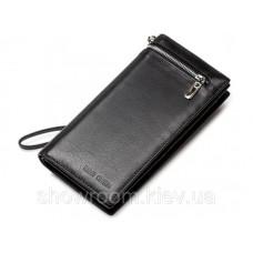 Чоловічий зручний шкіряний клатч (93) leather black