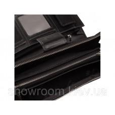 Чоловік функціональний шкіряний клатч (17) leather black