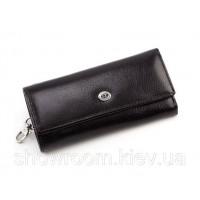 Кожаная мужская ключница-кошелек (16) black