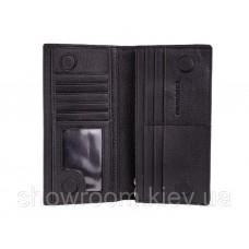 Чоловічий шкіряний гаманець на магніті (52) black