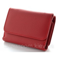 Женский кожаный кошелек (4031) красный