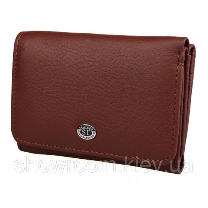 Женский кожаный кошелек (4031) бордовый