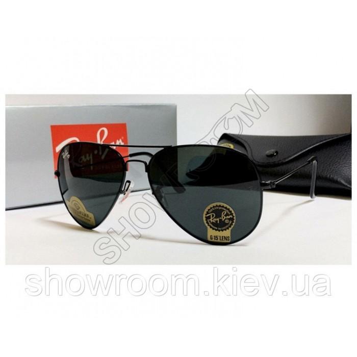 Мужские солнцезащитные очки RAY BAN aviator, черная оправа