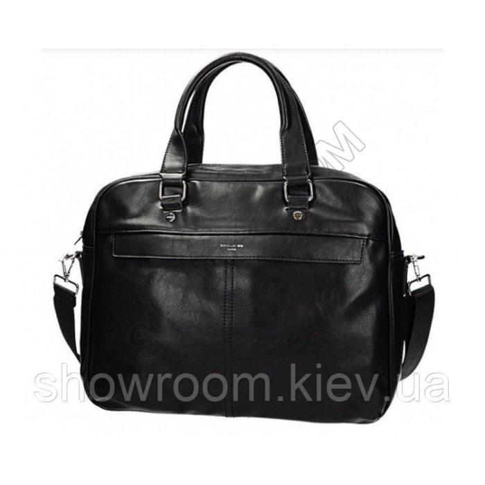 Мужская сумка для ноутбука David Jones (605) черная