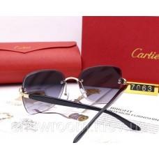 Жіночі брендові сонцезахисні окуляри Cartier (17063) grey